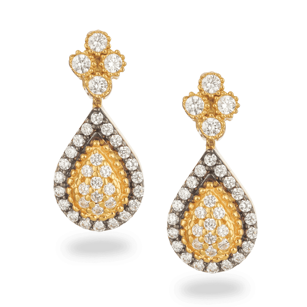 27018 - 22ct Gold CZ Earrings