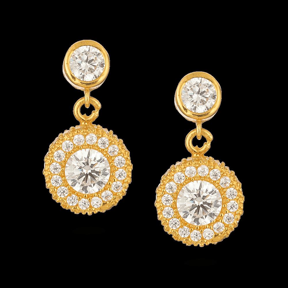 - 22ct Gold CZ Earrings