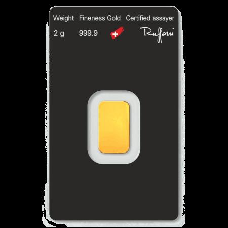 2gmbar - 2.0 Gram Fine Gold Bar