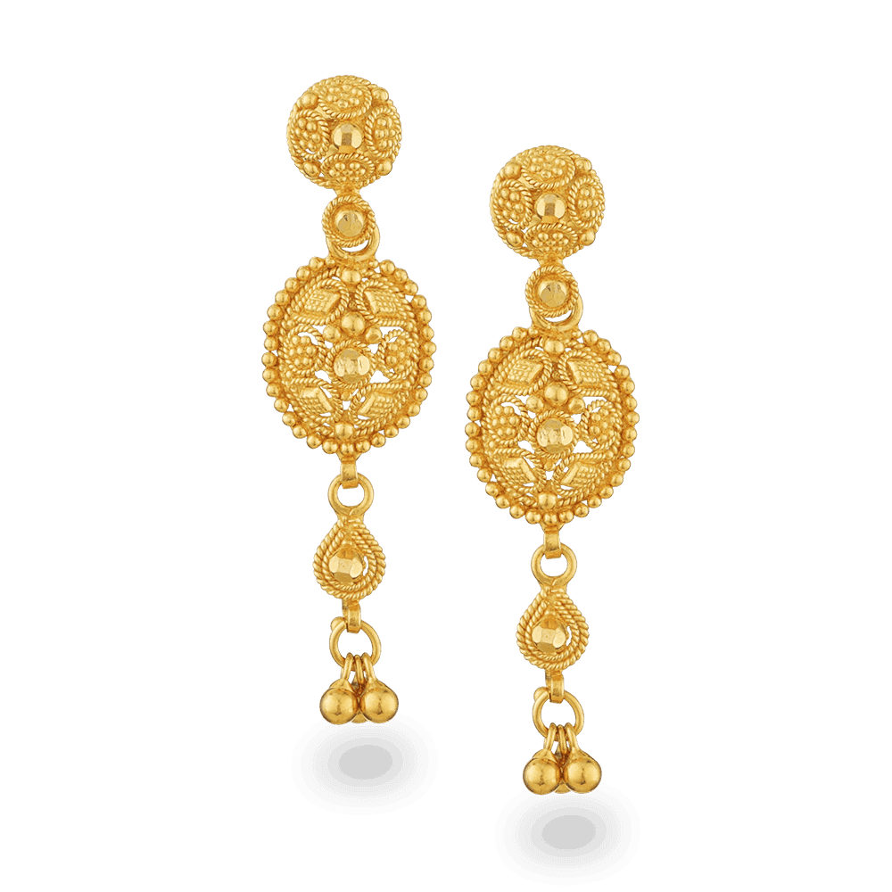 - 22ct Gold Filigree Earrings