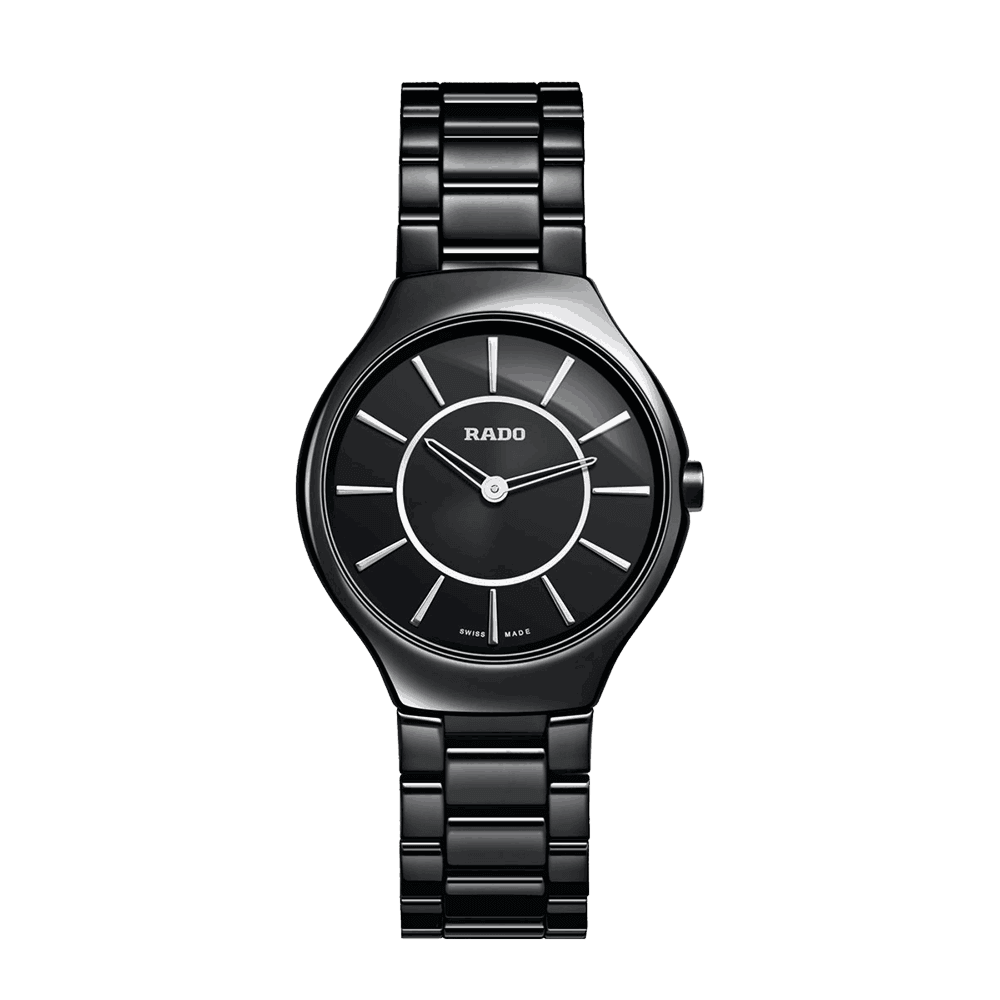 - Rado True Thinline Ceramic Ladies Watch