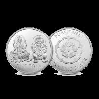 - PureJewels' Lakshmi & Ganesh Silver Tola