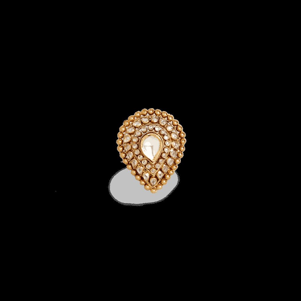 - 22ct Gold Diya Polki Ring