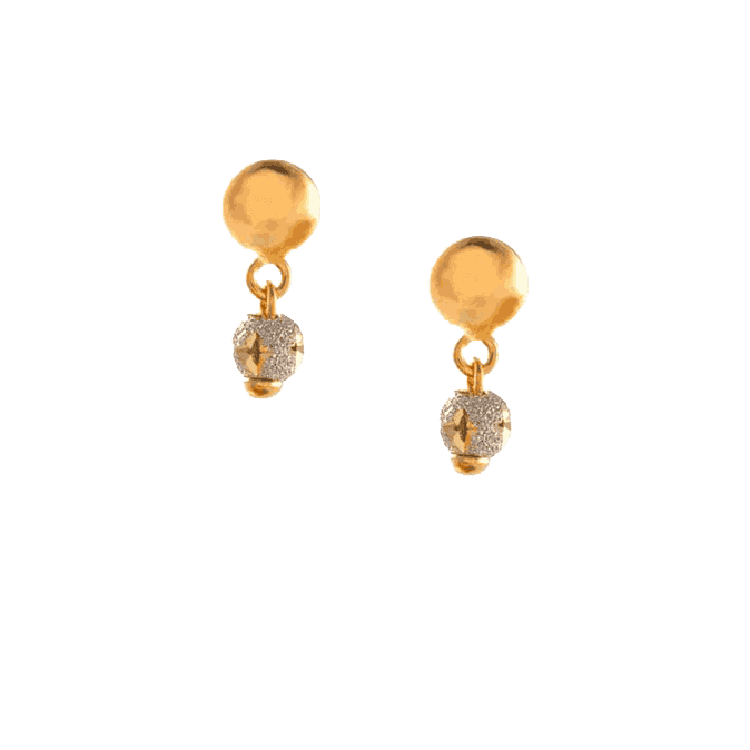 23727 - 22ct Gold Sparkle Earrings
