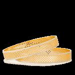 22ct rhodium plated bangles