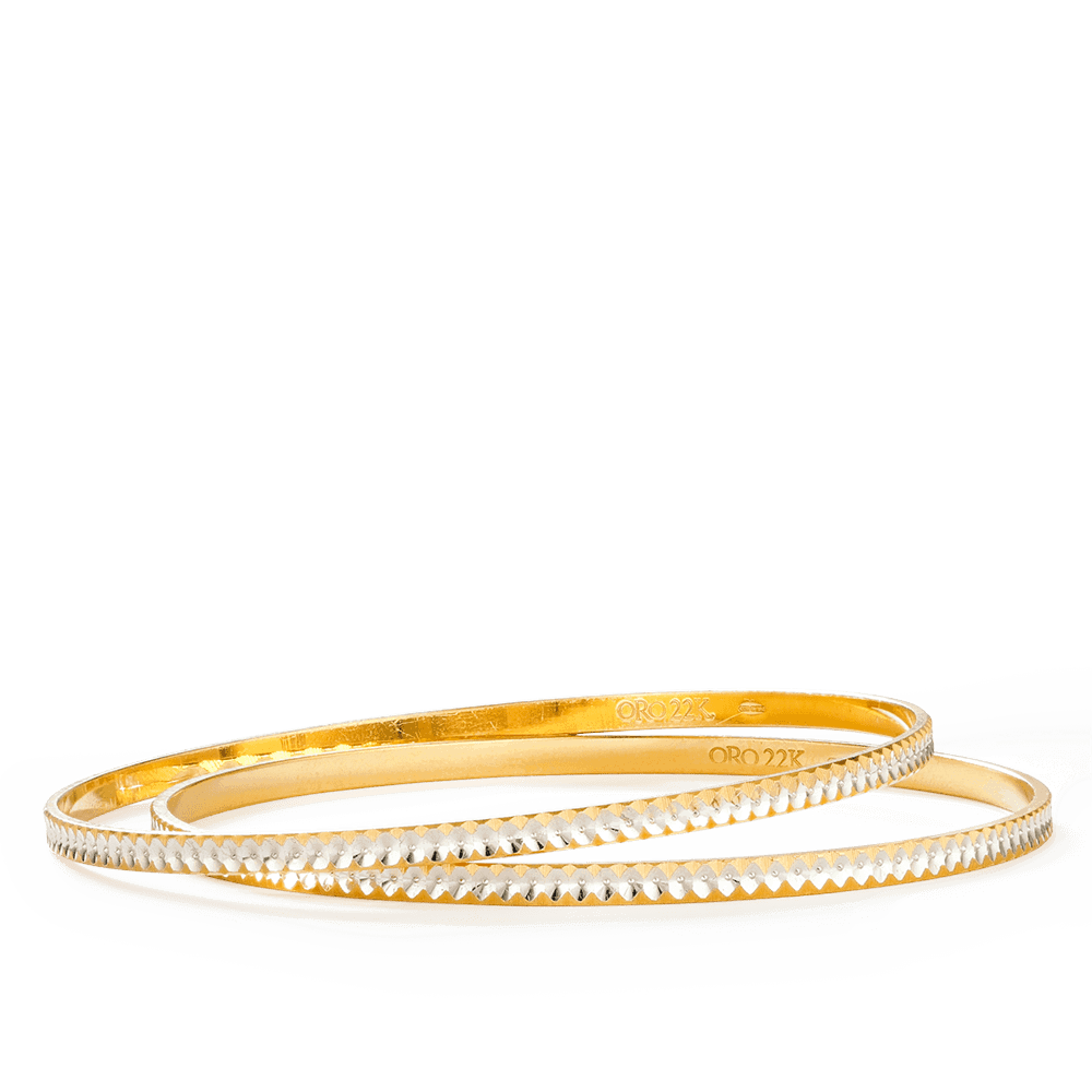 22ct rhodium plated bangles