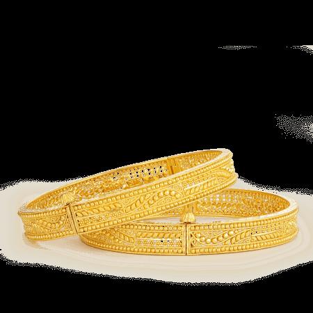 21294 22ct gold jali bangles