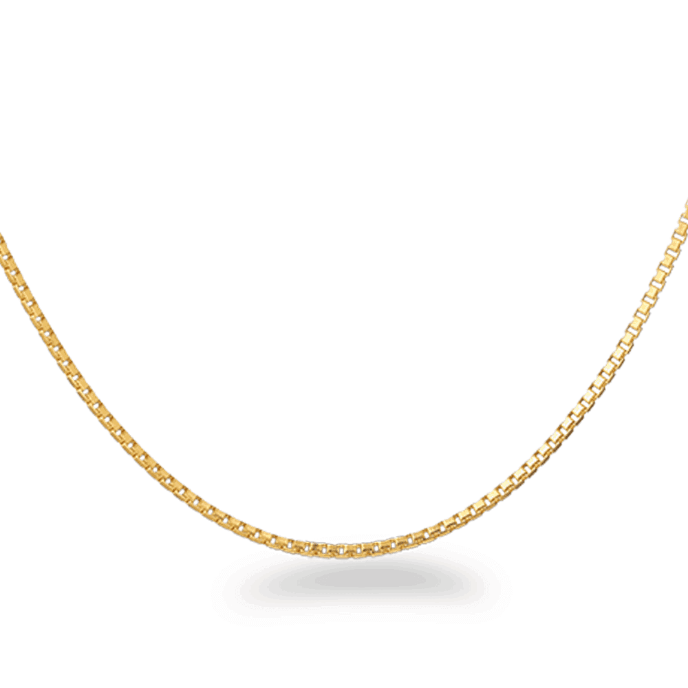 22392 - 22ct Gold Box Chain in 16 Inches