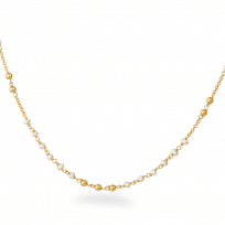 25515 - Chain with delicate Pearl accents in 22ct Yellow Gold