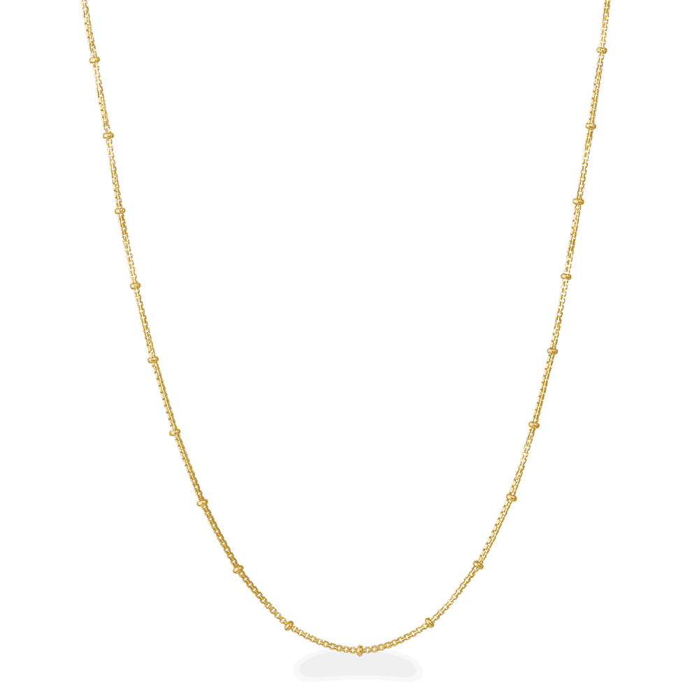 23471 - 22ct Trace Link Chain With Bead Rings in 18 inches