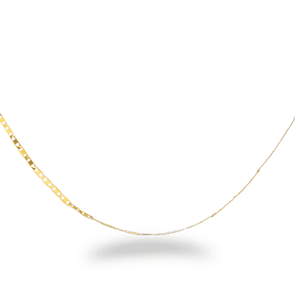23509 - 16 Inches Flat Chain in 22ct Yellow Gold