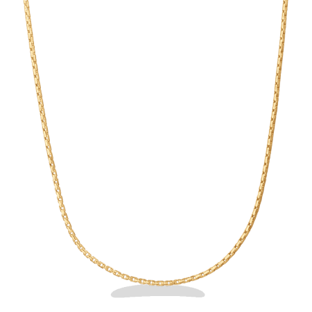 23950 - 22ct Gold Round Box Chain in 18 inches