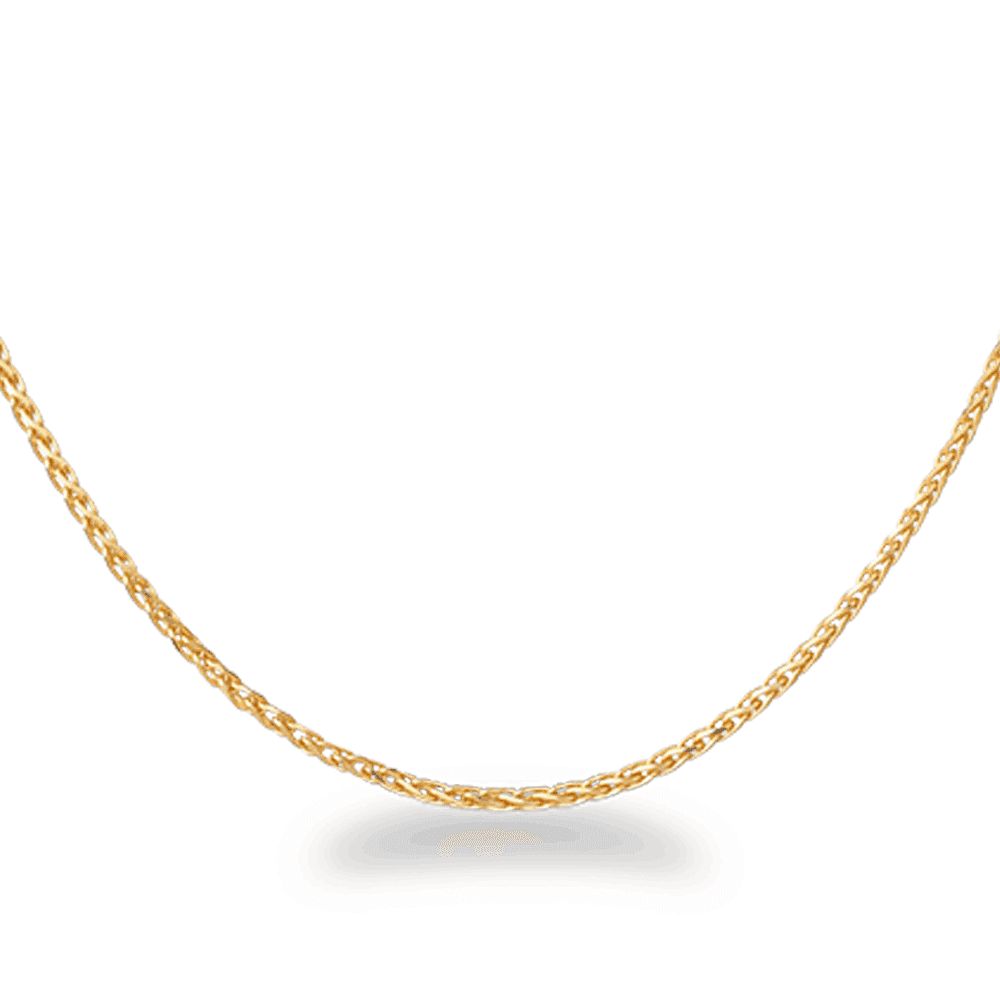 28948, 28954, 30633 - 18 Inches Foxtail Chain in 22ct Yellow Gold