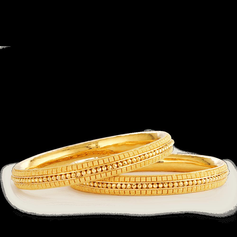 26090,26087 - 22ct Gold Jali Kada Bangles