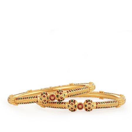 26185_26186 22ct gold bangles