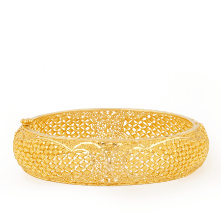 26383-22ct gold jali bangle