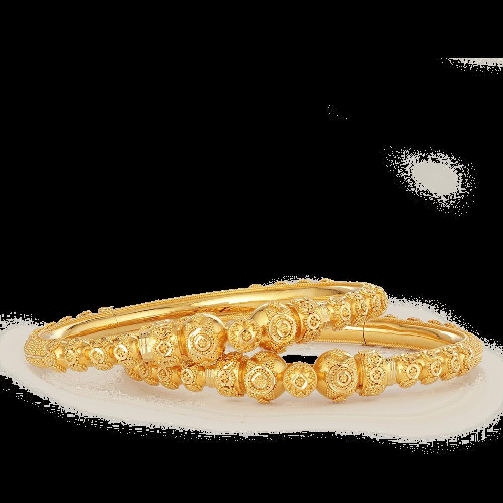 26386 - 22ct Gold Jali Kada Bangles