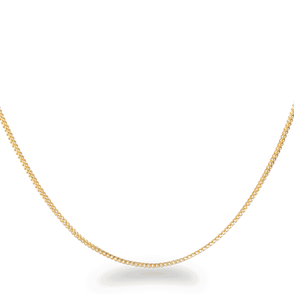 22683 - 22ct Gold Foxtail Chain 18 Inches