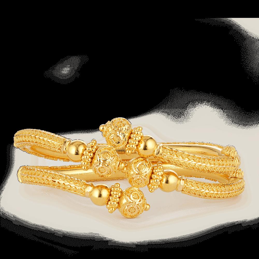 26861 - 22ct Gold Jali Filigree Bangles