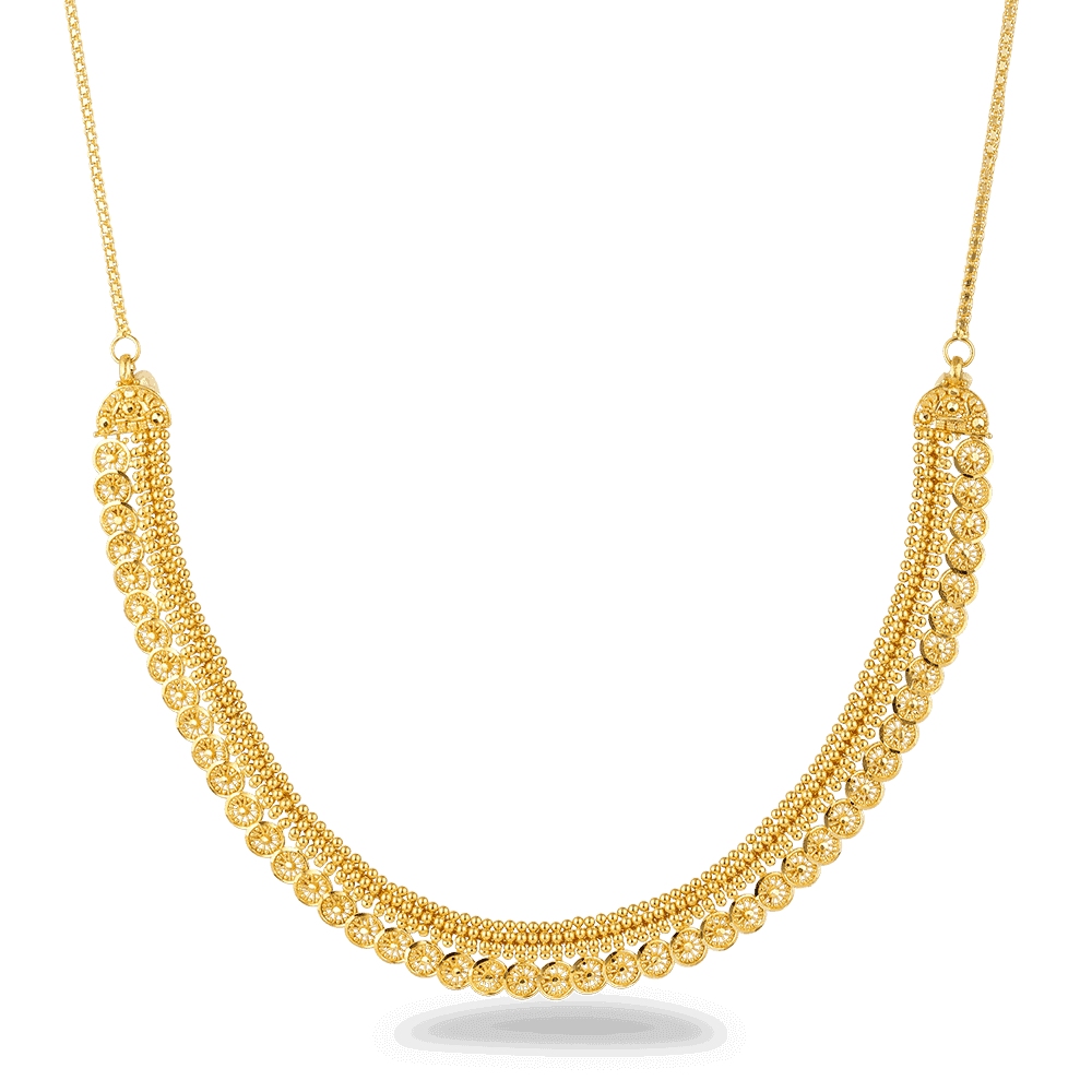 26873 - 22ct Gold Filigree Necklace