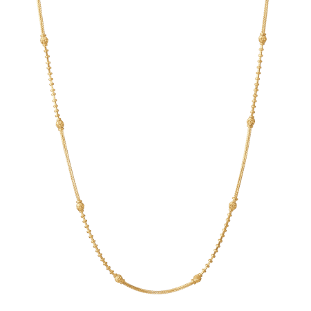 26893 - 22ct Gold Beaded Bridal Chain 18 Inches
