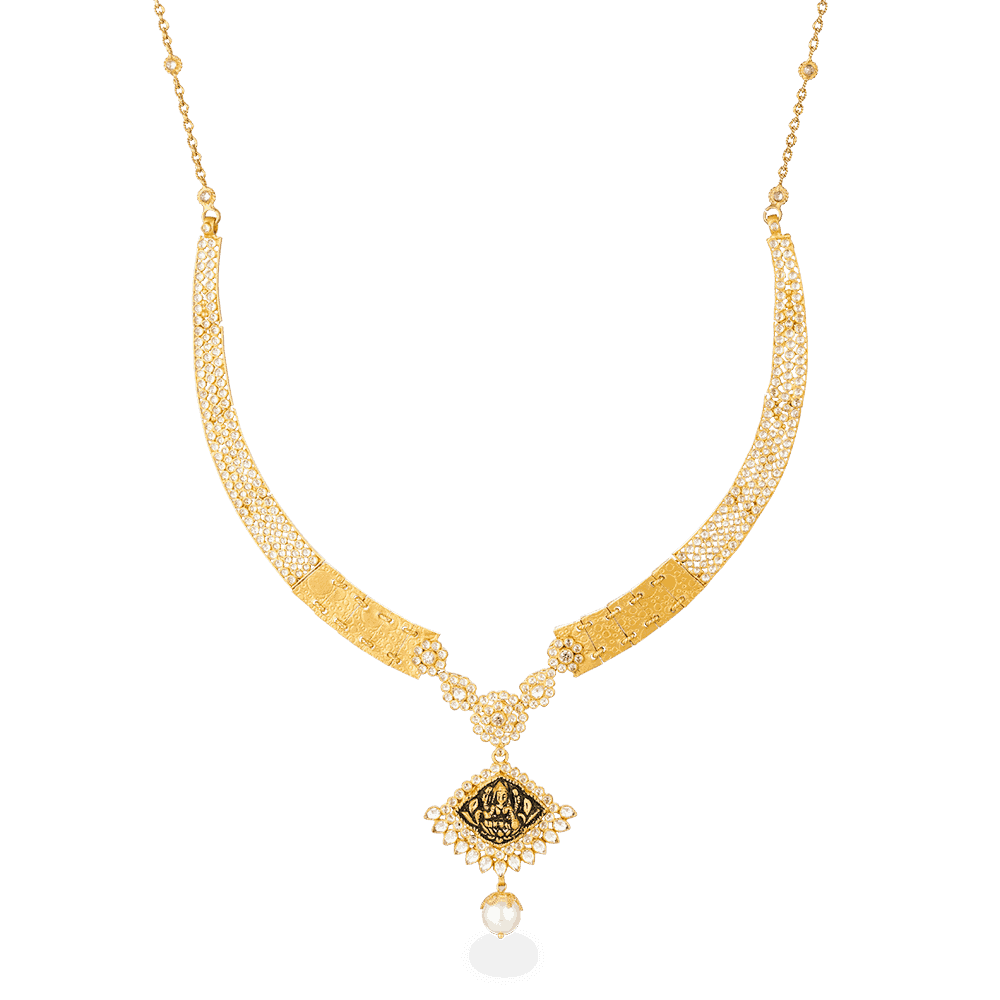 27110 - 22ct Gold Polki Necklace