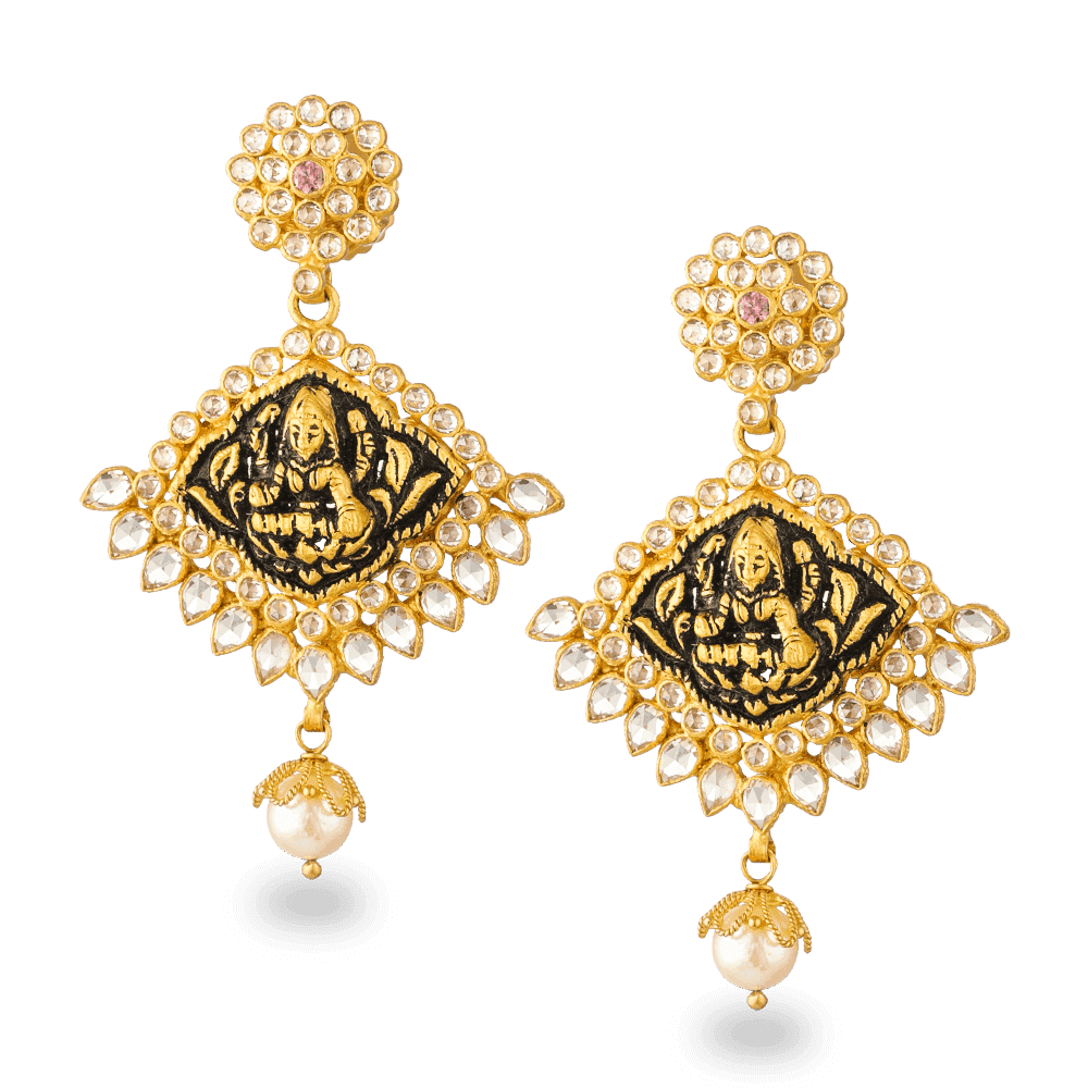 27111 - 22ct Gold Polki Earrings