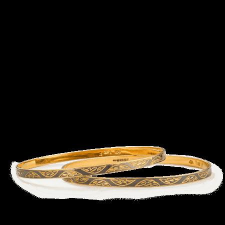 22ct gold bangles