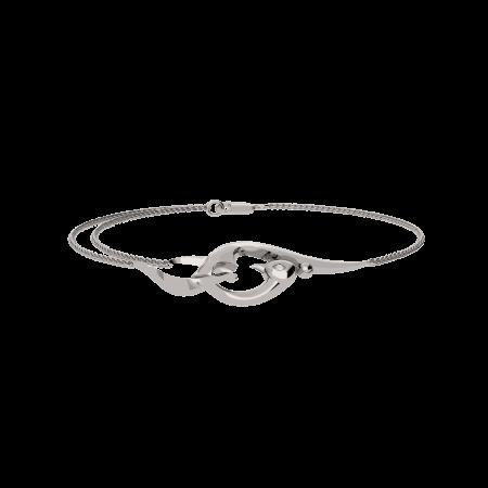 VINEA001 - Vinyasa Natural White Gold  Assymetric Ear Studs