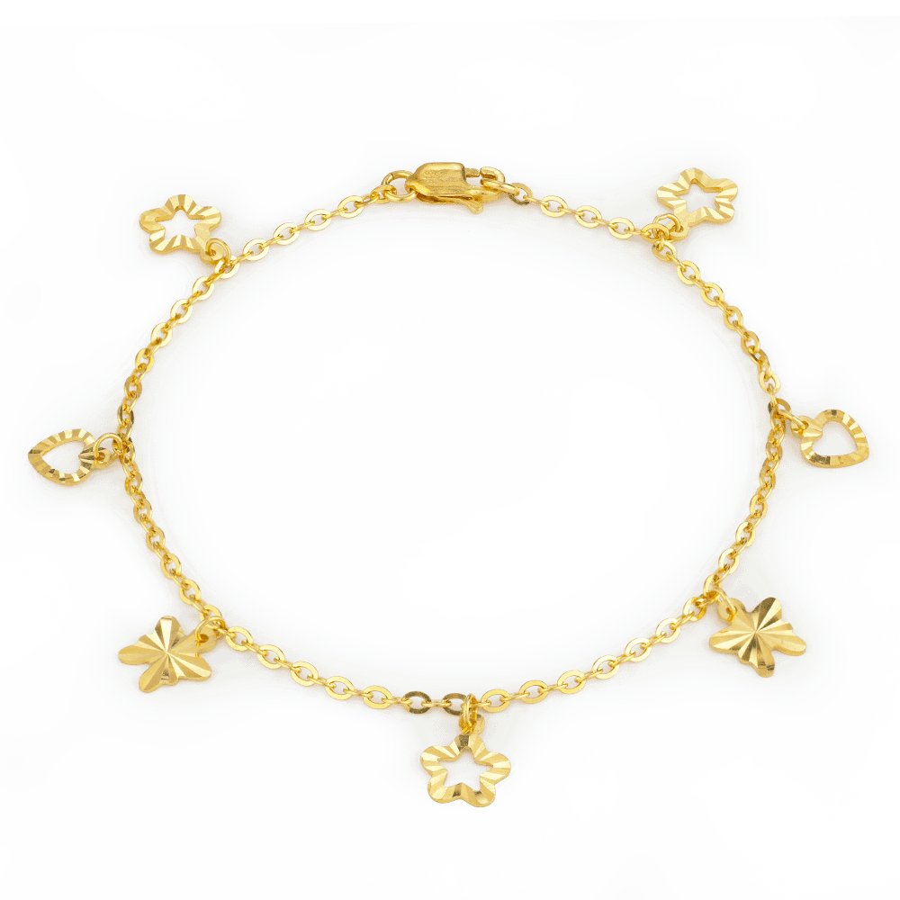 27074 - 22ct Gold Girls Charm Bracelet