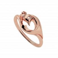 VINRNG001 - Vinyasa Peacock Ring in Natural White Gold
