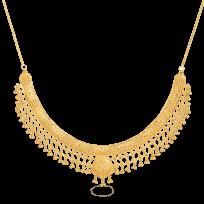 - Jali 22ct Gold Filigree Necklace