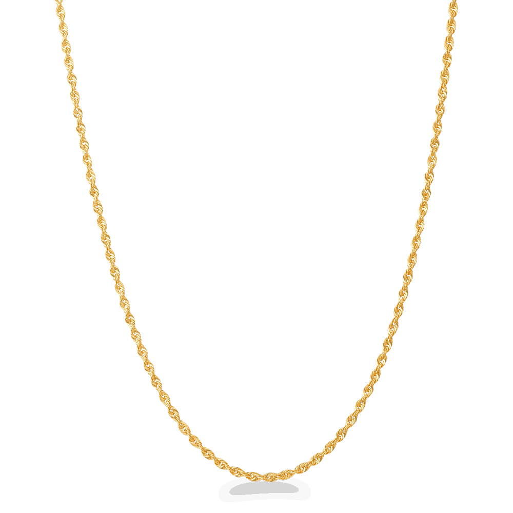 - 22ct Classic Baby Rope Chain in 16 Inche