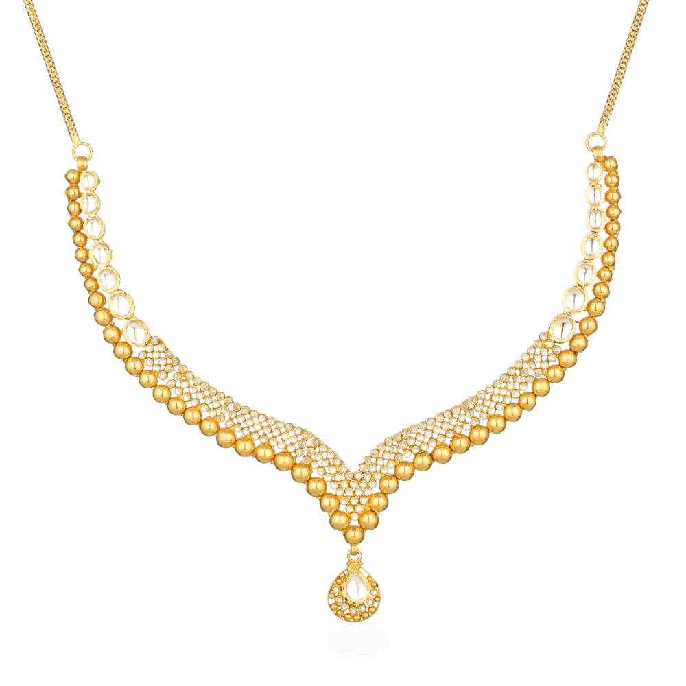 26851 - 22ct Gold Polki Necklace