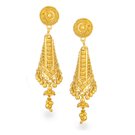 26880 - Jali 22ct Gold Filigree Earring
