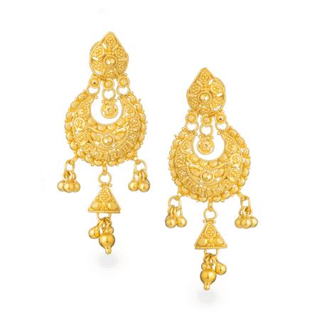 26885 - Jali 22ct Gold Filigree Earring
