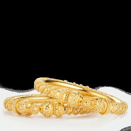 27952 - 22ct Gold Heart charm Bracelet