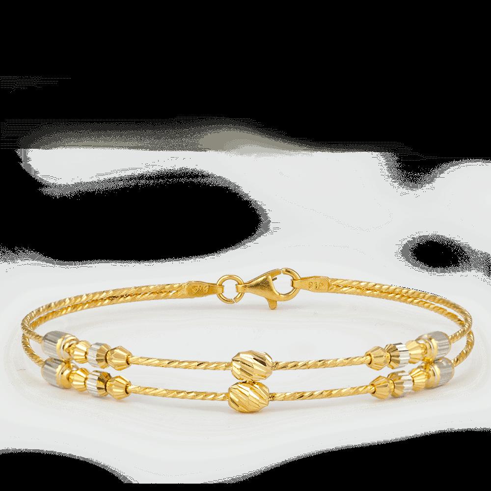 27952 , 27953 - 22ct Gold Heart charm Bracelet