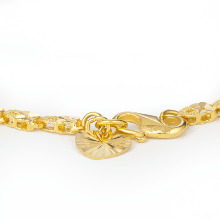 27952 , 27953 - 22ct Gold Heart charm Bracelet