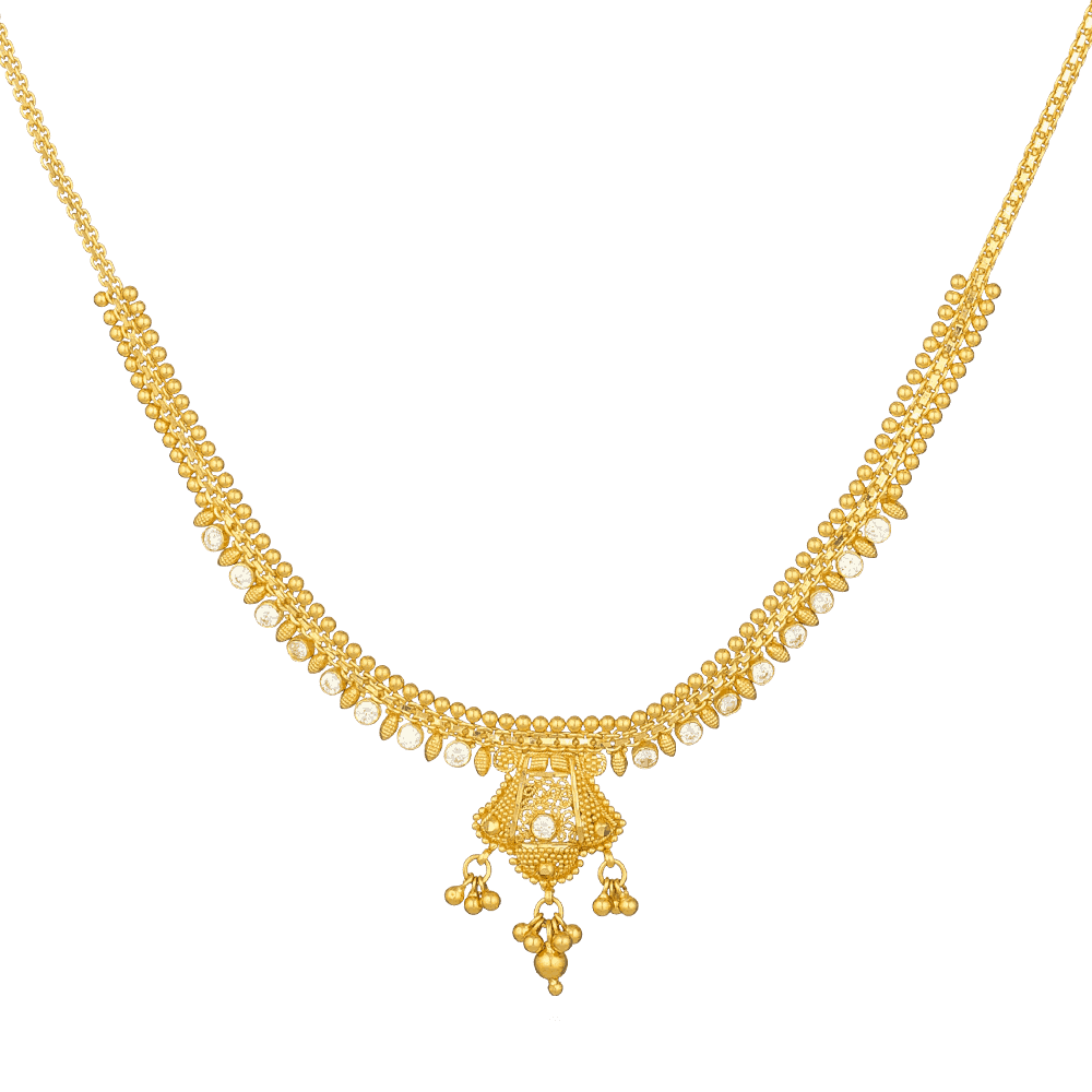 - Jali 22ct Gold Filigree Necklace