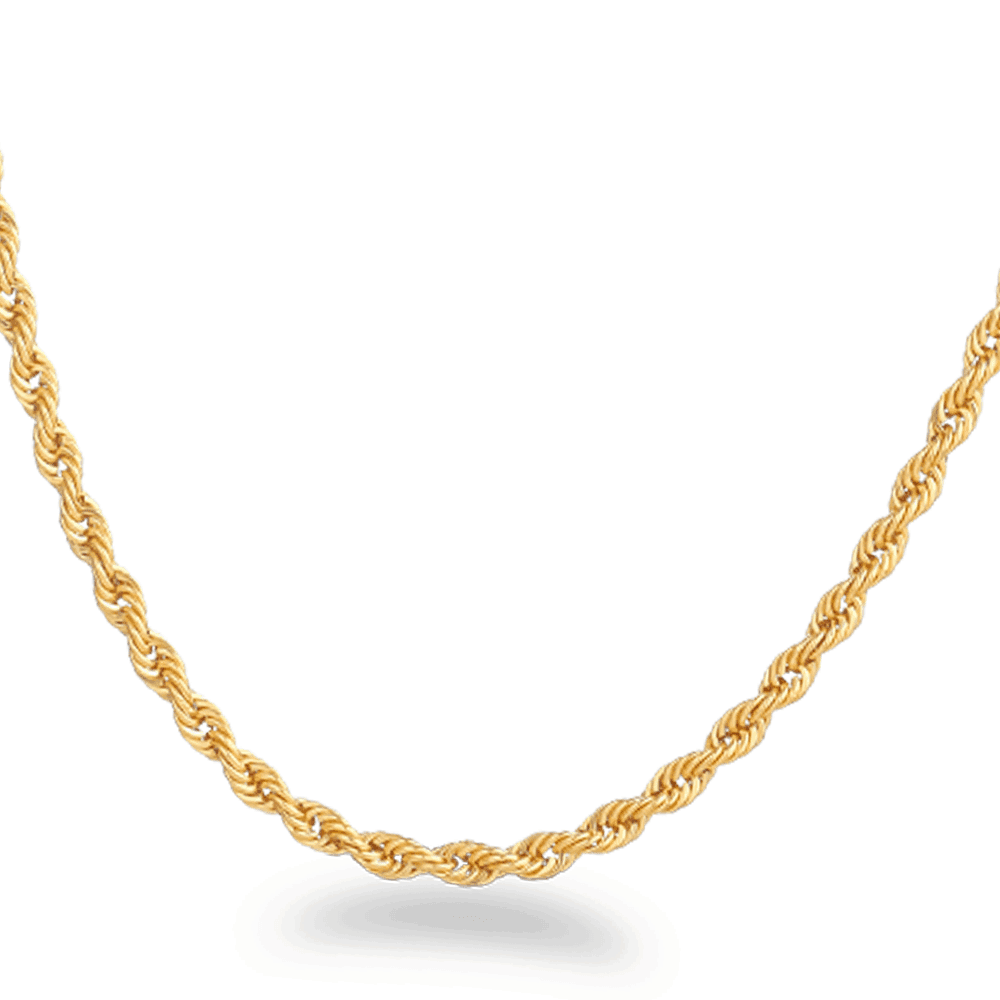 20373 - 22k Gold Rope Chain 18 inches