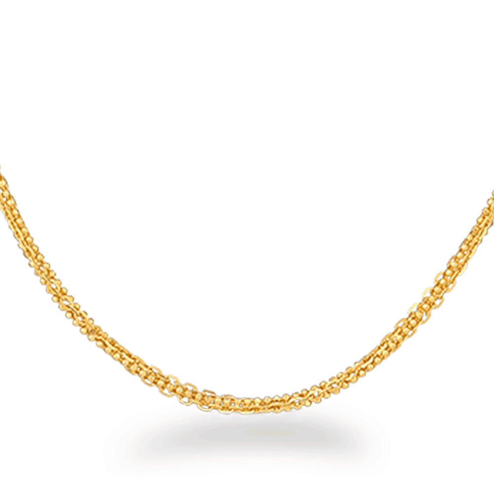30256 - 22ct Gold Foxtail Chain 20 Inches