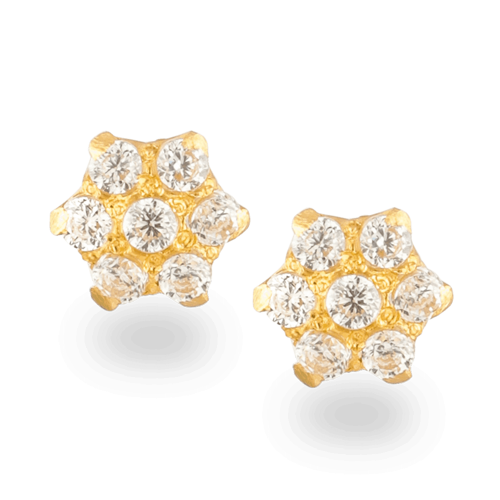 26032_22ct gold stud