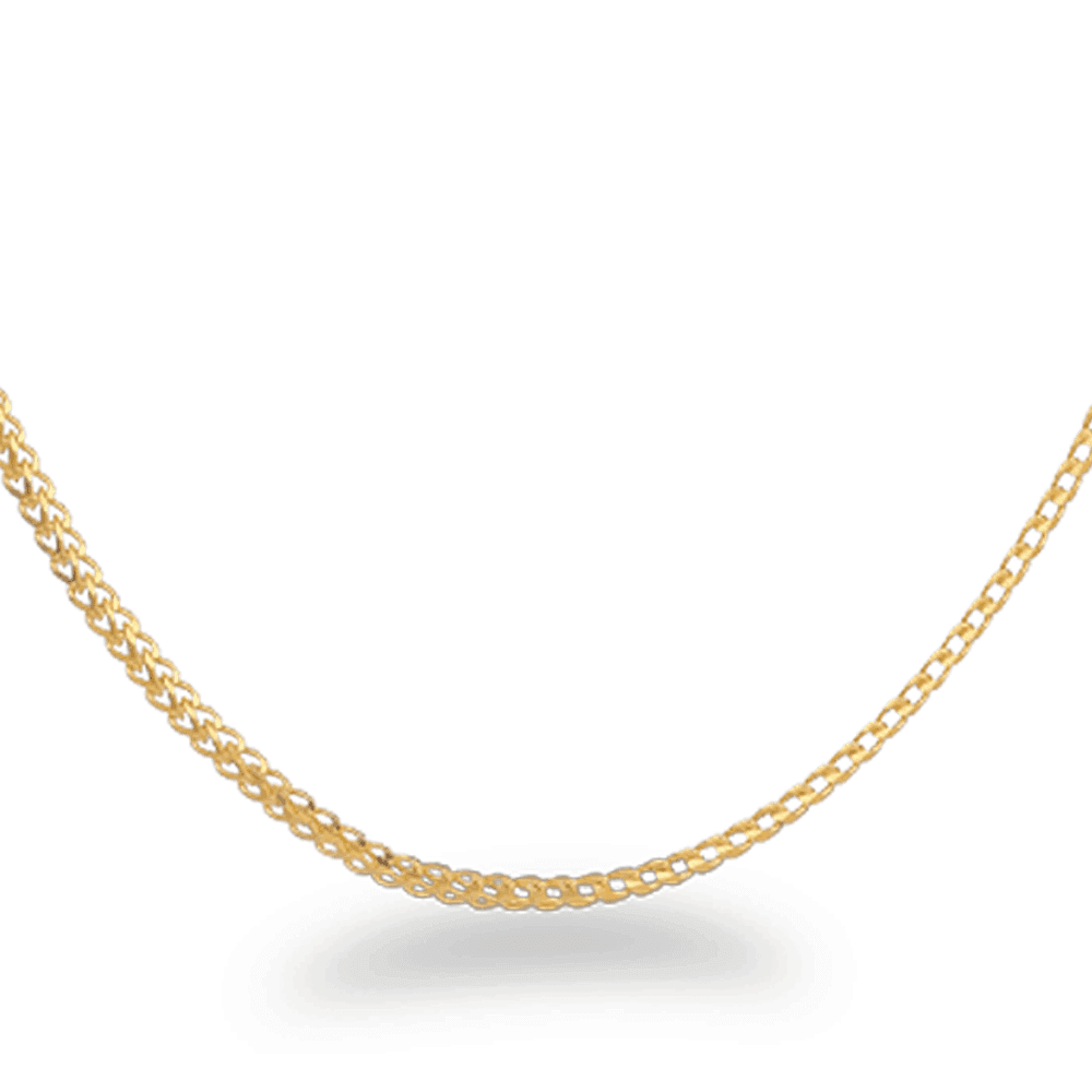26761 - 22 carat Gold Foxtail Chain 22 Inches