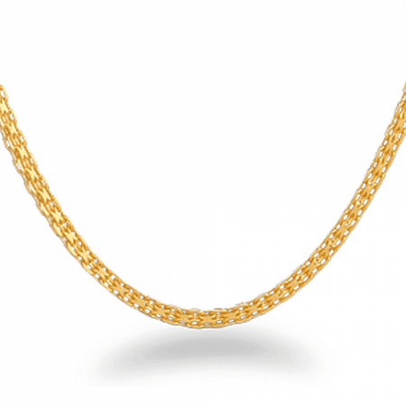26779 - 22ct Gold Square Milan Chain