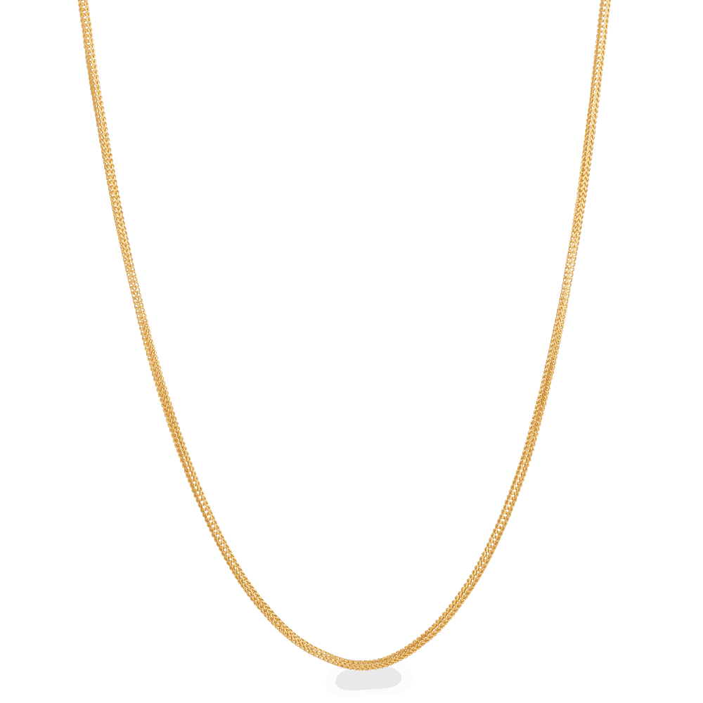 28425 - 22ct Gold Foxtail Chain 20 Inches