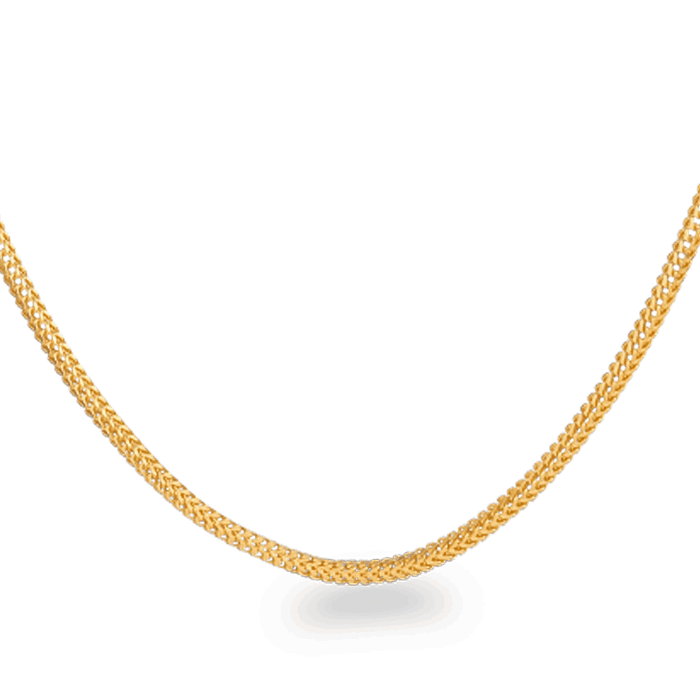25574 - 22ct Gold Foxtail Chain 20 Inches