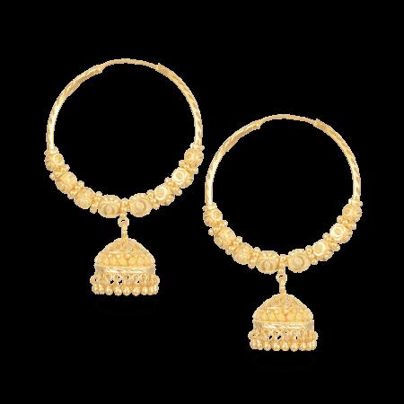 27352_22ct gold hoop earrings