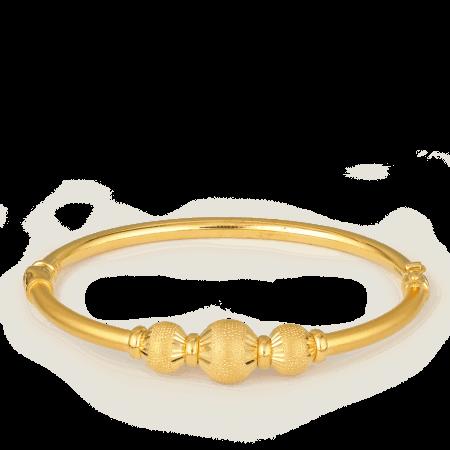 27437 - 22ct Gold Sparkle Bangle