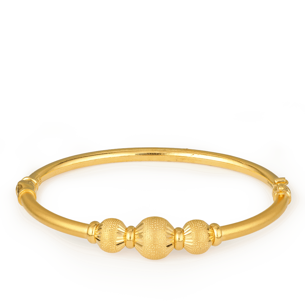 27437 - 22ct Gold Sparkle Bangle